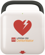 Physio Control Lifepak CR2 AED Fully Automatic, WIFI, English, Handle