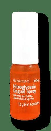 Nitroglycerin Spray 0.4mg/spray 60 doses Product Photo